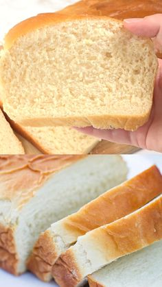 Best Homemade Bread Recipe, Easy Bread Recipes, Baking Recipes, Dessert Recipes, Super Soft Bread Recipe, Sliced Bread Recipes, Easy Fast Bread Recipe, Plain Bread Recipe, Recipes With Flour