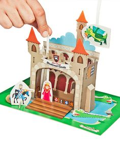 Medieval Castle Paper Theater - Holiday Toy - DIY Craft Kit Paper Toy - Paper Craft with Free Paper Finger Puppets - PRINTABLE PDF