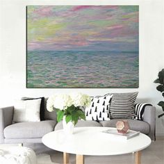 Claude Monet Sunset Seascape Impressionist Abstract Landscape Oil Painting on Canvas Poster Wall Picture for Living Room. Yesterday's price: US $399.00 (323.79 EUR). Today's price: US $247.38 (201.96 EUR). Discount: 38%.