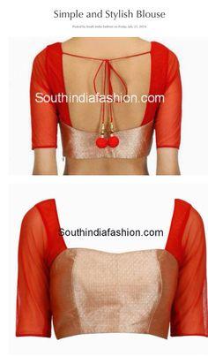 Simple yet modern blouse