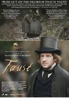 An updated take on the famous play by Johann Wolfgang von Goethe, Alexander Sokurov directs Johannes Zeiler as Faust, a man who sells his soul to the devil.  German, 132 min.  http://ccsp.ent.sirsi.net/client/hppl/search/results?qu=faust+sokurov&te=&lm=HPLIBRARY&dt=list