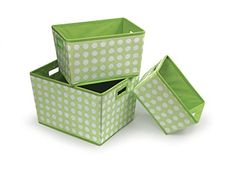 Trapezoidal Nesting Baskets Sage Polka Dot ** Learn more by visiting the image link. (This is an affiliate link and I receive a commission for the sales)