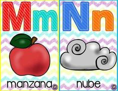 Baby Learning, Learning Spanish, Alphabet Words, Learning Letters, Classroom Decor, Teaching Resources, Kindergarten, Homeschool, Lettering