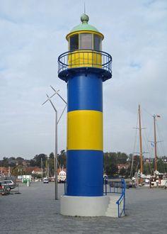 Eckernförde Hafen  lighthouse(betriebszeit)operating time was between 1907 - 1901