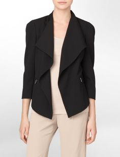flared cropped suit jacket ▲ calvin klein