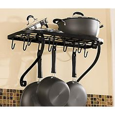 Wall Mount Bookshelf Pot Rack from Seventh Avenue ® 44.95