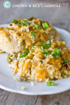 chicken and rice casserole with homemade asparagus soup concentrate- this is SO delicious!