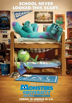 Woohoo! Planning to see this Saturday with @Kimberlee Binder! Mike and Sulley in Pixars Monsters University poster.