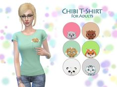 6 cute shirts for female sims. Found in TSR Category 'Sims 4 Female Everyday'