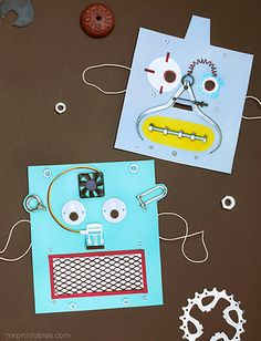 Make robot masks from things inside the tool box