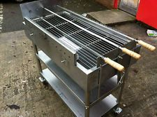 Deluxe Stainless Steel Large Rotisserie Greek Cyprus Charcoal Bbq Barbecue New Souvla In 2019 Grill