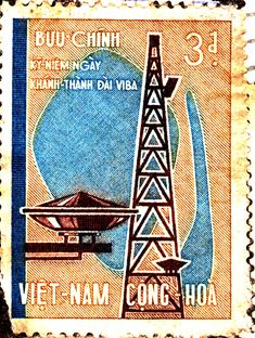 South Vietnam stamp 1965, and the first anniversary of the Saigon Microwave Station.  One minute on full power.. beep beep beeeep!  AM