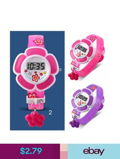 Wristwatches Children Girl Flower Digital Wrist Watch Cute Lovely For Kids  Light Gift 474bf35fd5
