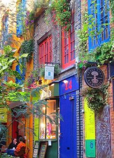 Colours of Neal's Yard in London, England