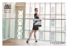 Elizabeth Harrod, Soloist of The Royal Ballet, Models Cocorose London's Dancer tote bag and Tatiana Foldable Shoes