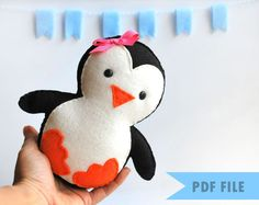 Baby Penguin PDF Sewing Pattern.