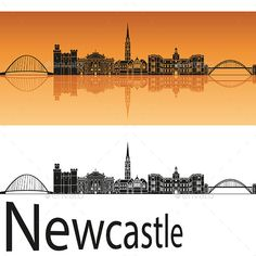 Buy Newcastle Skyline by paulrommer on GraphicRiver. Newcastle skyline in orange background in editable vector file. Newcastle England, Skyline Tattoo, Landscape Quilts, City Illustration, Illustrator, Family Tattoos, Orange Background, Easy Paintings, Line Drawing