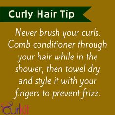 Tip of the day for your gorgeous curls.