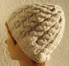 beautiful crochet hat Winter knitting hat natural by legendida