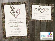 Country Camo Wedding Invitations