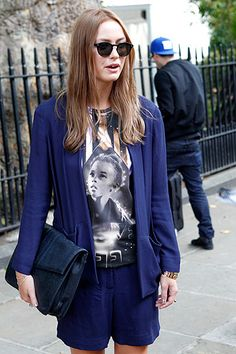 Micro Trend: The Short Suit Street Style