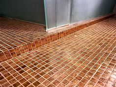 floor shower bathroom glass tile