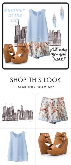 """""""summer"""" by jen144953-1 ❤ liked on Polyvore featuring Uniqlo, Ashley Stewart and Alexis Bittar"""