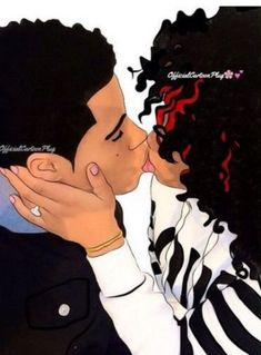 ideas for quotes queen relationships Black Couple Art, Black Love Art, Black Girl Art, Black Couples, My Black Is Beautiful, Art Girl, Cute Couples, Couple Swag, Dope Cartoons