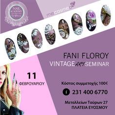 #NEW: Οι σύγχρονες τεχνικές nail art ενώνονται με την αγάπη για το β̰ί̰ν̰τ̰α̰ζ̰ και σας ταξιδεύουν σε μια άλλη εποχή... στο μοναδικό #Vintage #ΝailArt Seminar by Fani Floroy!  ✦When: 11 Φεβρουαρίου ✦Cost: €100 ✦Where: Top Beauty Nail Academy ✉ Kλείστε θέση τώρα μέσω inbox ή καλέστε μας 📞 στο 231 400 6770  ➤Δίνεται πιστοποιητικό παρακολούθησης. ➤Θα χρησιμοποηθούν ειδικά προϊόντα Mecosmeo Athens ❝Join us! Where the Nail Art is born...❞  #TopBeautyEvosmos #NailAcademy #nails #Nailsgreece Beauty Nail Salon, Art Academy, Nail Artist, Vintage, Vintage Comics