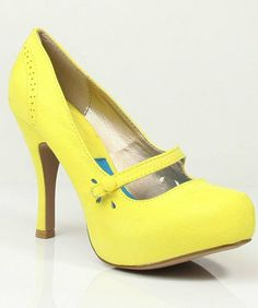 488227927396 Qupid Double Mary Jane Straps High Heels Stiletto Pump Shoes Qutrench-26  Lemon Lime or Zebra (6.5