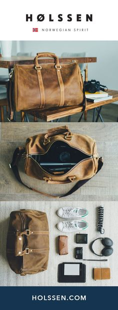 Leather duffel weekender bag perfect for traveling and weekend escapes. Leather travel bag weekender perfect for travel and weekend getaways. Mens Weekend Bag, Leather Weekend Bags, Sac Week End, Macbook, Buy Bags Online, Photography Bags, Leather Men, Leather Bags For Men, Mens Leather Laptop Bag