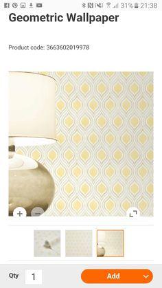 Geometric Wallpaper, Bath Mat, Dining Room, Home Decor, Decoration Home, Room Decor, Home Interior Design, Bathrooms, Dining Rooms