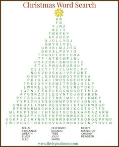 Christmas word search printable that's free to download and a great activity to do during the holidays or in the classroom too. via @thetypicalmom