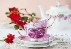 Floral tea cups