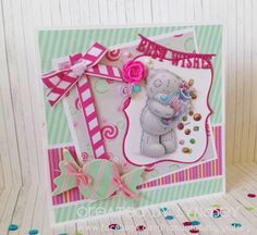 Me to You Sweet Shop - Quick and simple card by design team member Lyndsey Tatty Teddy, Teddy Bear, Birthday Ideas, Birthday Cards, Craftwork Cards, Pink Cards, Candy Cards, Team Member, Candy Shop