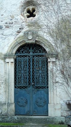 Chapel door ~ St-Nazaire, Languedoc-Roussillon, France
