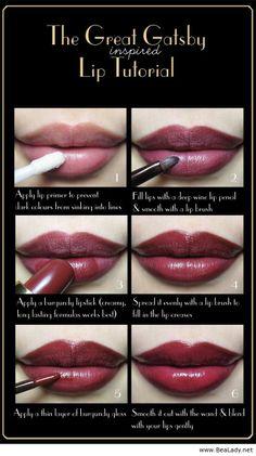 Gatsby lip tutorial - BeaLady.net