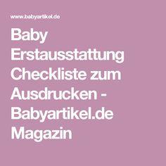 Baby Erstausstattung Checkliste zum Ausdrucken - Babyartikel.de Magazin
