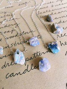 Galaxy stone necklaces