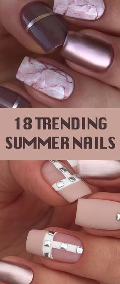 18 Trending Summer Nail Designs 2018. cuccio nail polish, glaze marble gel.