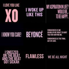 Love quotes ideas feyonce beyonc themed bachelorette party top 10 beyonc songs as chosen by fans beyonce lyrics from the album beyonce songs flawlessdrunk in lovepretty hurtsxo partitionand 711 stopboris Choice Image