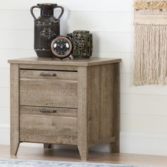 South Shore Lionel Weathered Oak Nightstand