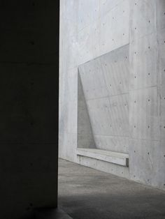 Tadao Ando, slick, straight, structural lines in concrete