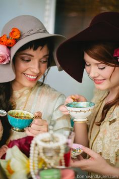 The Marvelous Vintage Tea Party Co collaborates with Bonnie And Lauren photography!  marveloustea.com