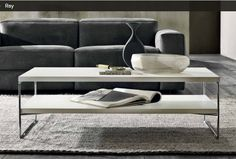 Coffee table with shelf from Natuzzi