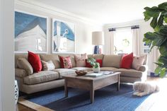 Hello Friends! It's time for another magical before and after! A few months ago I gave you a peek behind-the-curtain of a Nantucket-inspired family room design for a home in Dunwoody. You can take a look back at the original...