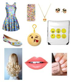 """Emojis"" by sillygirl14 on Polyvore featuring Casetify, WithChic, Betsey Johnson, Kate Spade, Carole and Fiebiger"