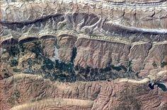 An alligator hide of Iranian rock.