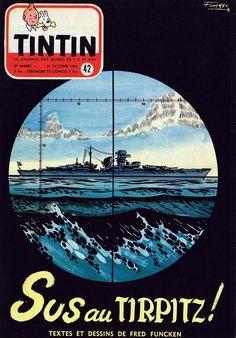 Le Journal de Tintin - Edition Belge - N°  370 - 1953-42 - Mercredi 21 Octobre 1953 - Couverture : Fred Funcken
