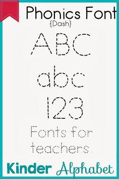 32 Phonics Fonts for Teachers
